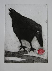 Fågeln 2/8 collografi